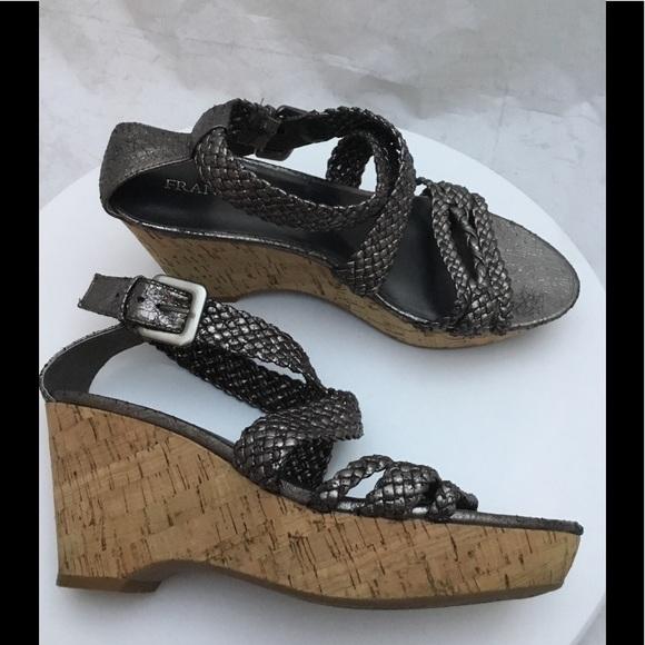Franco Sarto Galli Braided Metallic Sandals